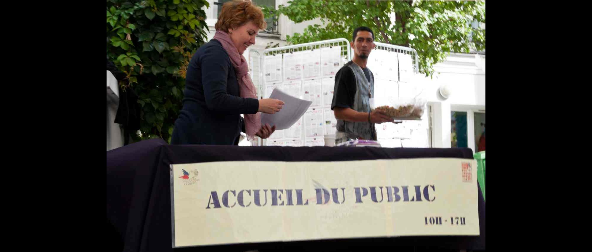 A l'accueil : Laurence